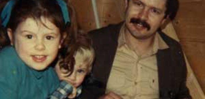 Daniel Morgan with his children, Sarah and Daniel