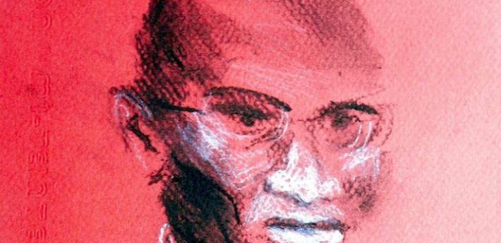 Court usher sketch, Isobel Williams