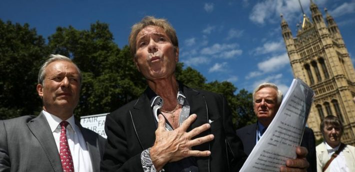 Cliff Richard launches campaign for pre-charge anonymity in sexual offences cases
