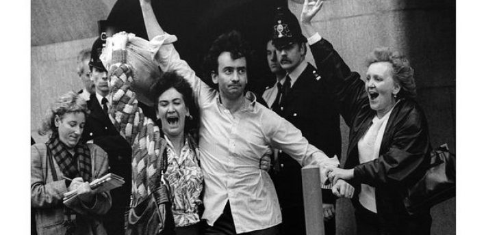 Gerry Conlon leaving the Old Bailey