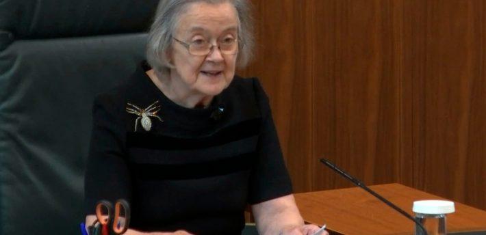 Baroness Hale handing down judgment
