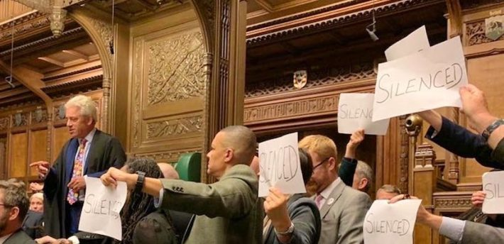 MPs protest the prorogation
