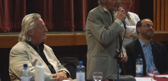 Paddy Hill, one of the Birmingham Six, speaking at the lecture