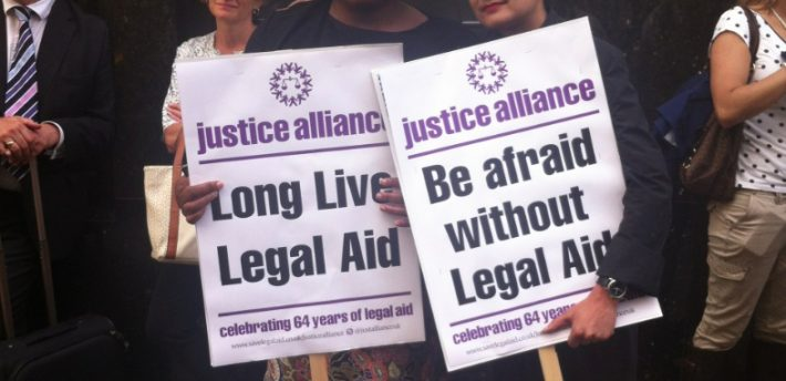 Diane Abbott and Shami Chakrabarti at Justice Alliance demo in 2013