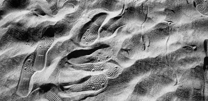 Footprints, from Flickr under creative comms licence  Susan Sermoneta