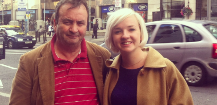 Gerry Conlon with Mary-Rachel McCabe in Belfast