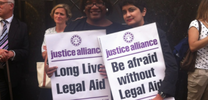 Legal Aid cut protest