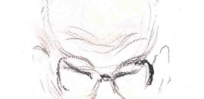 Lord Neuberger. Sketch by Isobel Williams