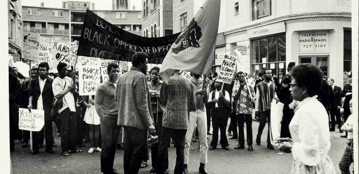 Black Power demonstration, Notting Hill 1970. National Archives
