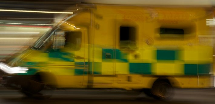 Speeding ambulance, from Flickr, Creative Comms, morebyless