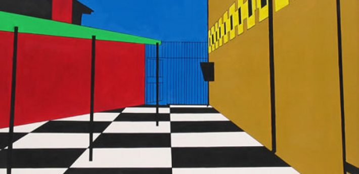 Koestler Trust exhibition (The Yard 2030 – Maghaberry Prison, Northern Ireland, Commended for Oil/Acrylic Painting 2007)