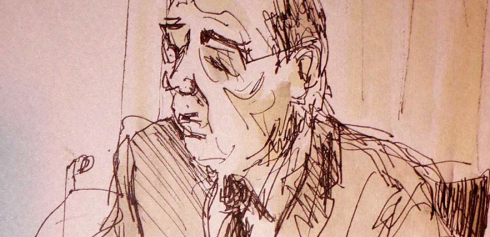 Sir Brian Leveson sketch by Isobel Williams