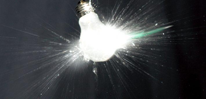 light bulb smashed